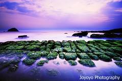 Bean curd rock (joyoyo) Tags: park city black rock landscape island dawn nikon taiwan bean card technique seashore keelung curd hoping beachscape      joyoyo