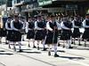 Hawthorn City Pipe Band marching at Kew