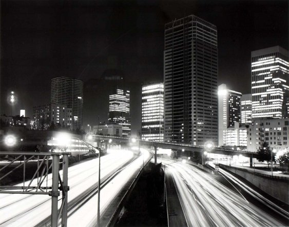Freeway and Downtown, from the Seattle Documentary Survey Project