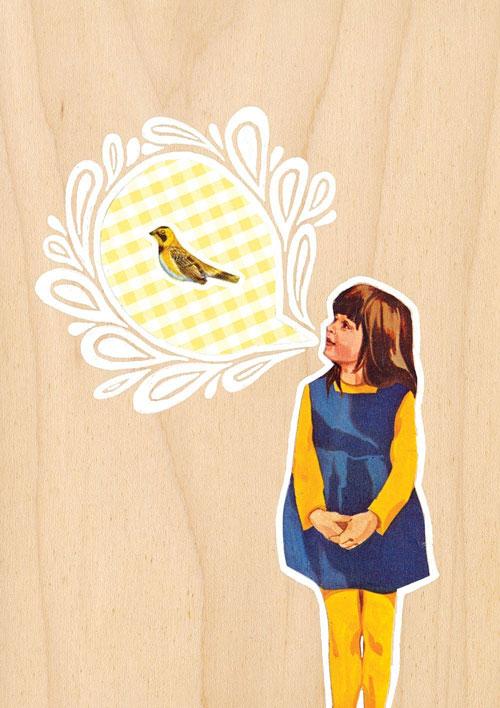 Cabin + Cub, Constant Bird Talk giclee print