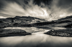Glacier (vulture labs) Tags: light sky bw white mountain black reflection art water clouds reflections river landscape photography photo iceland big nikon europe angle 4 wide glacier split toned hdr lightroom photomatix d700 1424mm vulturelabs