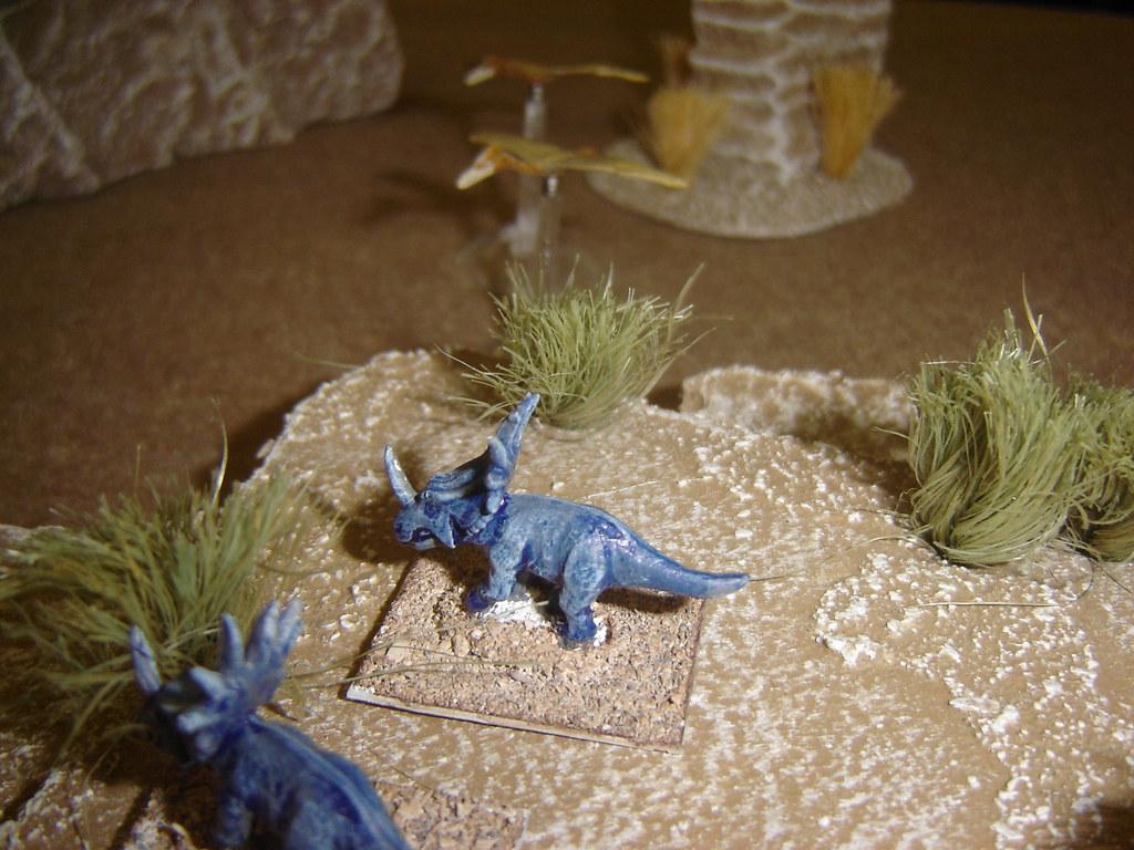 Styracosaurs graze