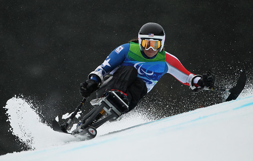 Laurie Stephens in Sitting Giant Slalom