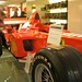 Chris, and Michael Schumacher's 2002 winning Ferrari