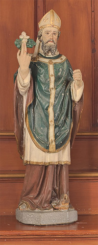 Saint Patrick Roman Catholic Mission, in Armagh, Missouri, USA - statue of Saint Patrick