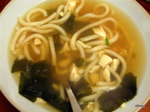 miso and udon soup