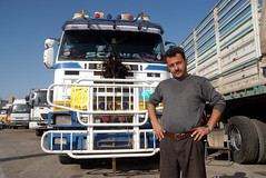 TRUCKING IN LEBANON (Claude  BARUTEL) Tags: road portrait lebanon truck transport eat middle beirut trucking drivers scania