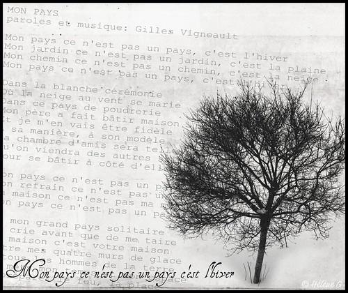 Mon pays ce n'est pas un pays c'est l'hiver -Gilles Vigneault