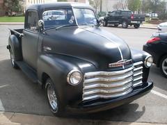 black chevrolet truck, denison texas