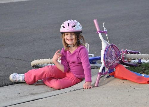 A tumble off the new bike
