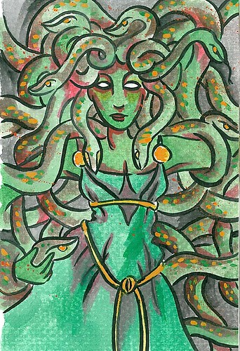 medusa watercolor