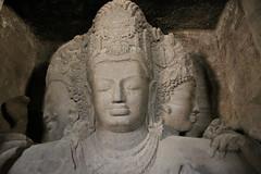 Three-Headed Shiva, Elephanta Island Cave, Mumbai Harbor, Mumbai, India, 2010 (travfotos) Tags: india shiva mumbai elephantacaves elephantaisland shivashrine trimurthisadasiva