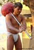 Kushti Wrestler carrying a Gada at Tulsi Ghat Akhara, Varanasi (Sekitar) Tags: shirtless portrait india man male wrestling indian swing varanasi hanuman strong wrestler mace carry tulsi pradesh benares ghat uttar uttarpradesh gada akhara sekitar kusthi gymnasia kushti kusti earthasia pehlwani pehlawi ©sekitar
