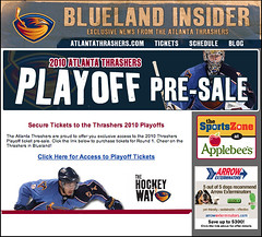 An April Fool's Day joke came via e-mail to Atlanta Thrashers fans. Cruel.