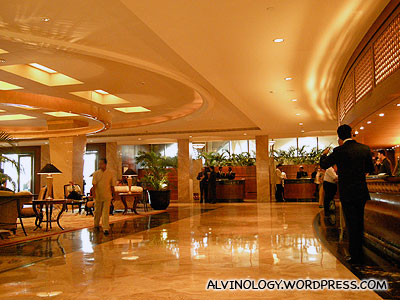 Lobby of the Taj Hotel - a different world from Regency Inn where we stay