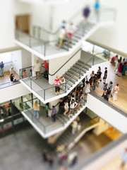 Van Gogh Museum (Bart van Damme) Tags: color colour amsterdam stairs painting miniature crowd thenetherlands tourists badge painter expressionism vangoghmuseum tourisme destijl vincentvangogh tiltshift bartvandamme gerritrietveldarchitect bartvandammephotography bartvandammefotografie emailbagtvandammegmailcom