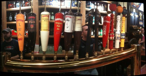 Beer Taps at Harpoon Brewery Boston