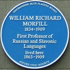 Photo of William Richard Morfill blue plaque