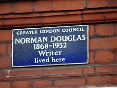 Photo of Norman Douglas blue plaque