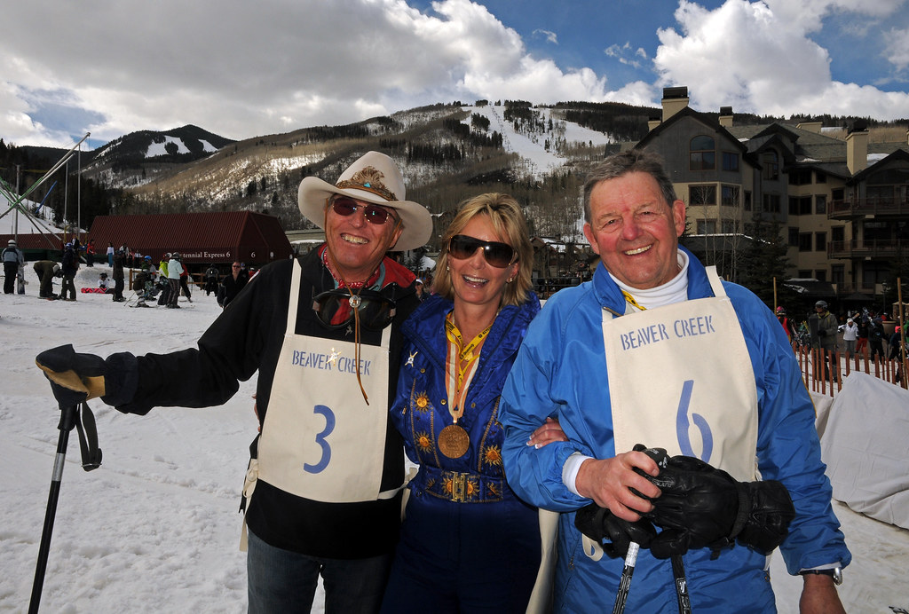Former Teammates at Jimmie Heuga Vintage Ski Race at Beaver Creek
