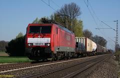189 027-6 in Mehrhoog (CargoFighter2) Tags: br neuss 189 br189 kijfhoek es64f4 oberhausenwest rotterdamwaalhaven 1890276