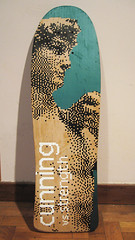 Cunning vs Strength deck (.krayon) Tags: spray skate sk8 roma posca pixelart pixel limitededition legno krayon handmade halftone artworks artwork
