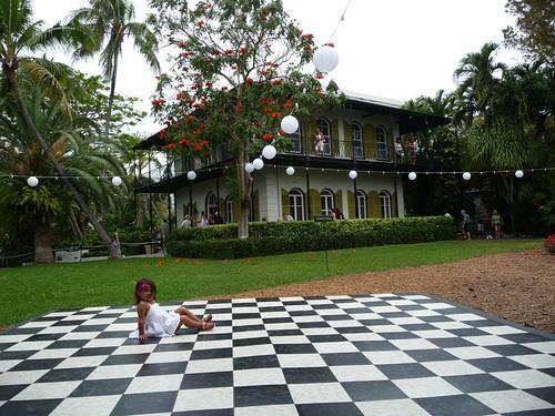 checkered dance floor.