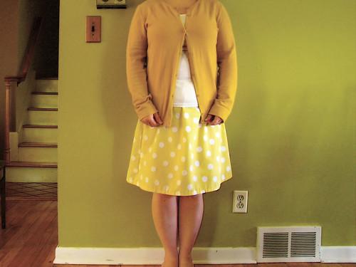 First sheet skirt of the season
