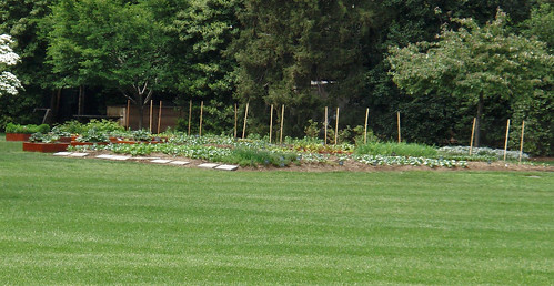 white house vegetable garden