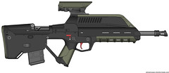 Talon Remake (The Sci-fi Nerd) Tags: scope rifle assault scifi optic pmg bullpup
