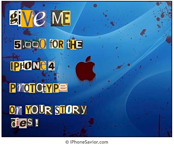 4G iPhone Ransom Note