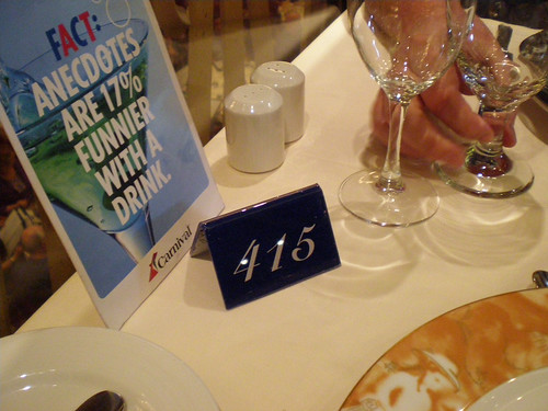 Carnival Spirit - Table 415