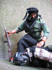 Checking for explosives...close-up (harrycobra) Tags: modern gijoe terrorist actionfigures diorama actionman specialforces tomclancy rainbowsix blueboxtoys