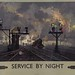 Original British Rail Service By Night Poster by David Shepherd
