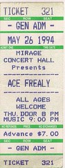 05/28/94 Ace Frehley/T-Wire @ Minneapolis, MN (Ticket)