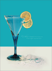 Spring Colors (s@mar) Tags: blue white ice glass yellow spring lemon inspiredbylove