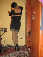 Decisin (Shika Travis) Tags: sexy crossdresser piernas travesti minifalda transformista minivestido mediasdemalla