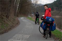 Looking back... (belboo) Tags: bike germany deutschland tour czech april fahrrad elbe 2010 laba radweg fahrradtour elberadweg