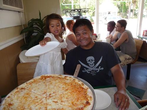 huge ny style pizza.