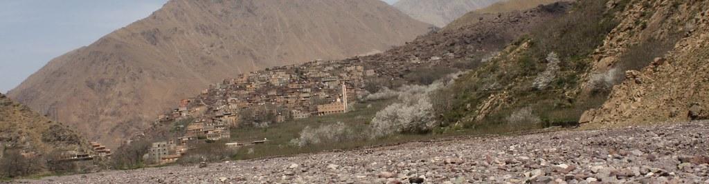 Poblado bereber - subiendo al Toubkal