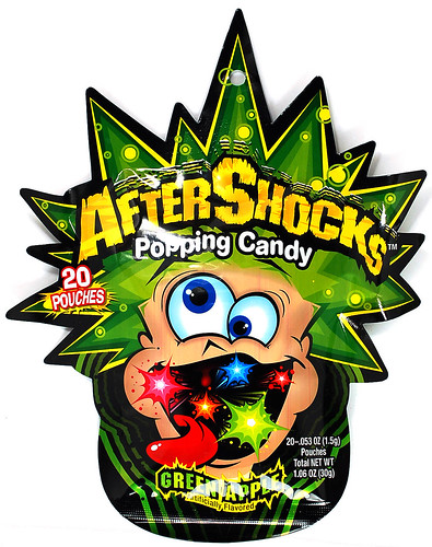 After Shocks Popping Candy - Green Apple