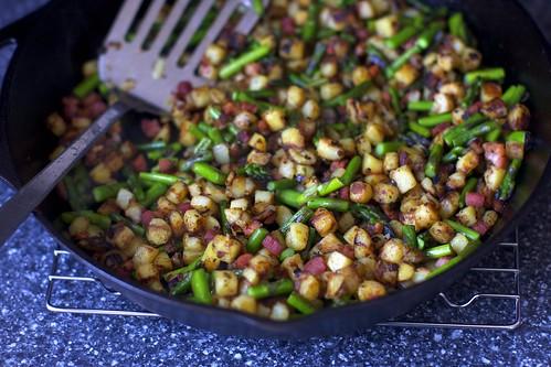 asparagus pancetta hash