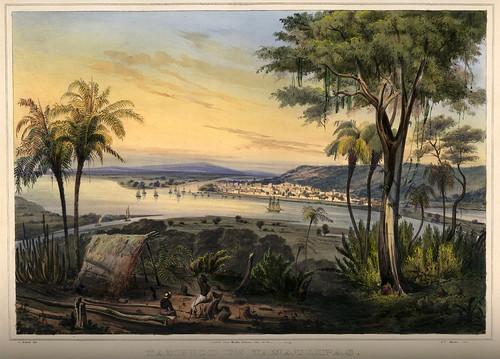 004-Vista de Tampico estado mexicano de Tamaulipas -Voyage pittoresque et archéologique dans la partie la plus intéressante du Mexique1836-Carl Nebel