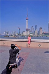 30066987 (wolfgangkaehler) Tags: asia china chinese chinesearchitecture couple couples huangpuriver localman localpeople localwoman orientalpearltelevisiontower shanghai shanghaichina skyline skylines skyscraper skyscrapers televisiontower thebund people man woman