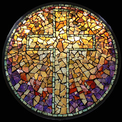 Resurrection Cross (artglassmosaics) Tags: light glass cross mosaic stained rays mandalas artglassmosaics