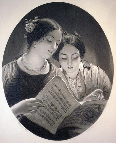 """""""A Duet""""  c. 1850's"""