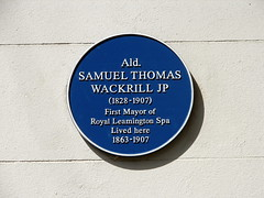 Photo of Samuel Thomas Wackrill blue plaque