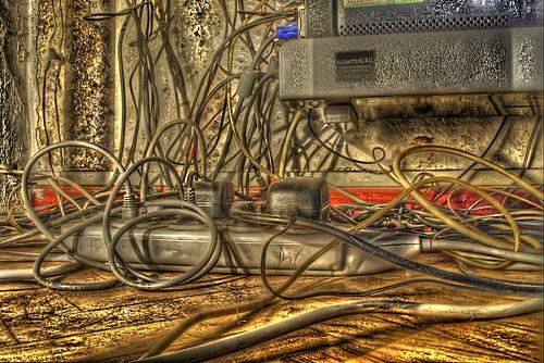 Colgado de los cables