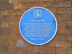 Photo of Park Square, Leeds blue plaque