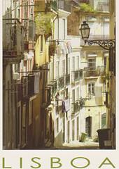 Santa Catarina, Lisboa (FloridaGirl46) Tags: portugal lisboa postcard narrow strret